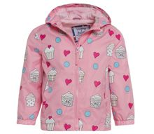Holly & Beau Girls Cupcake Colour Change Rain Coat