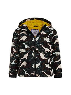 Boys Dino Colour Change Rain Coat
