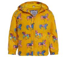 Holly & Beau Girls Horse Colour Change Rain Coat