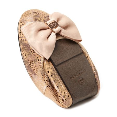 Cocorose London Buckingham leather foldable ballerina