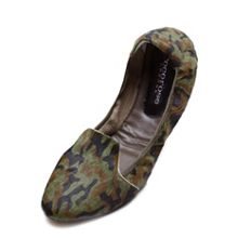 Farringdon camo green leather foldable loafer