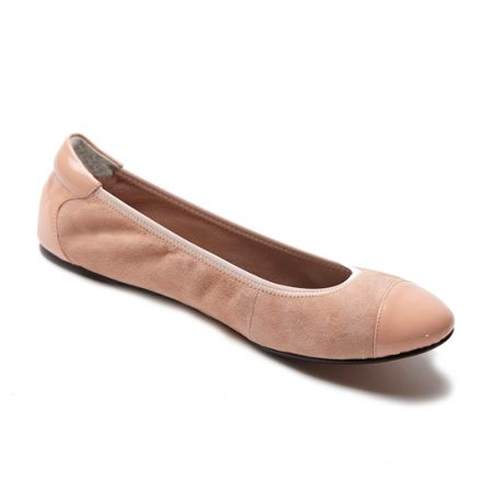 Cocorose London Harrow pink leather foldable ballerina