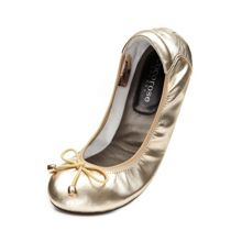 Cocorose London Sandringham leather foldable ballerina