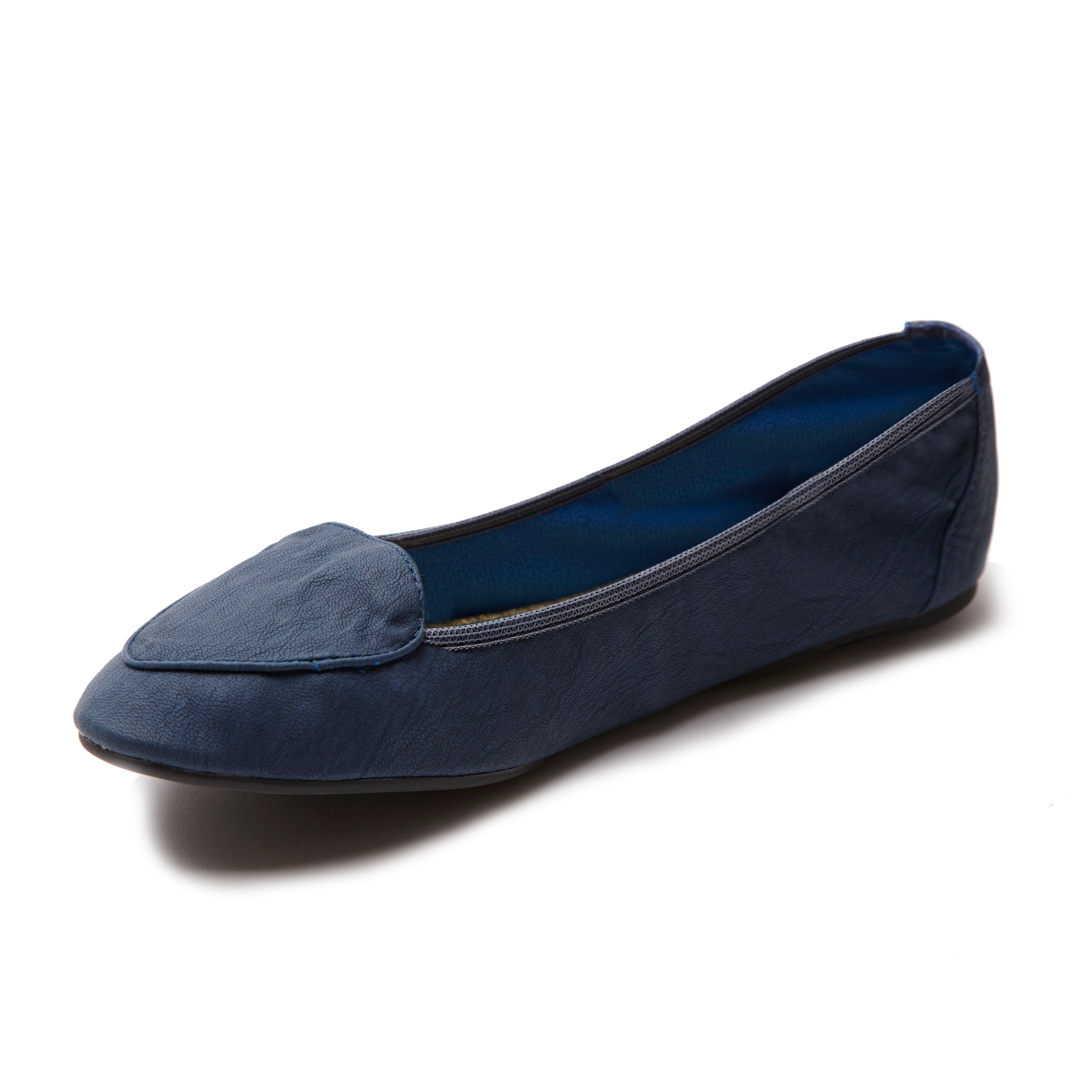 Islington navy foldable loafer