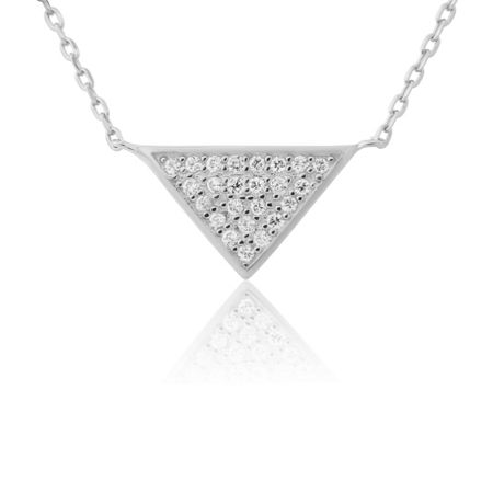 LaBante Sterling silver triangle necklace