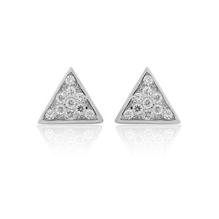 LaBante Sterling silver triangle stud earrings