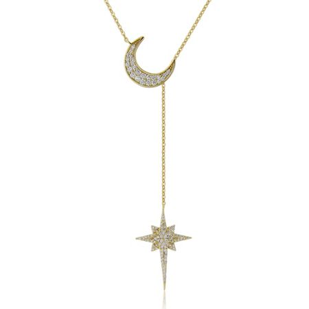LaBante Star and moon gold necklace