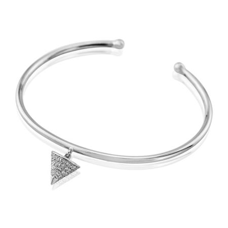 LaBante Silver sterling pyramid charm bangle