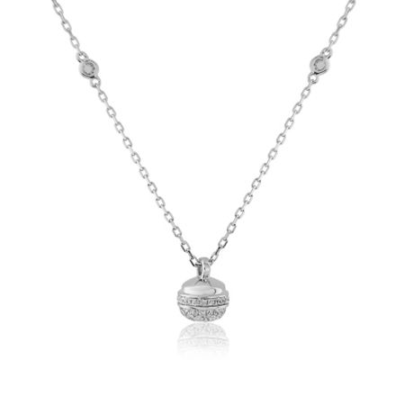 LaBante Sterling silver round charm necklace
