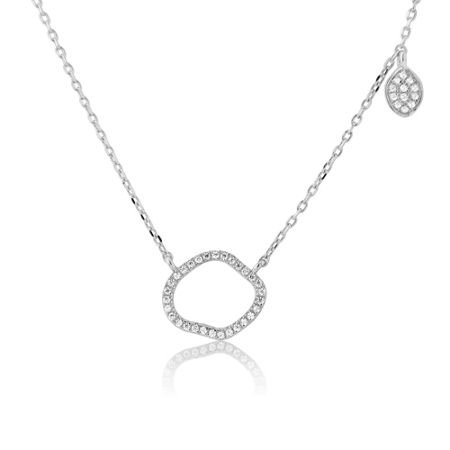 LaBante Sterling silver organic shape necklace