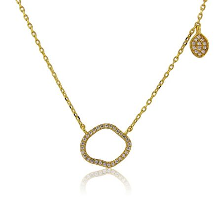 LaBante Gold organic shape necklace