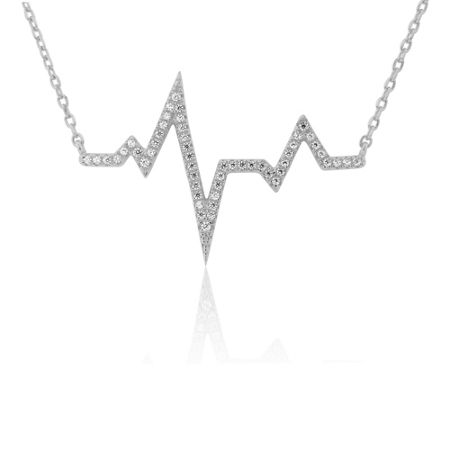 LaBante Sterling silver heartbeat necklace