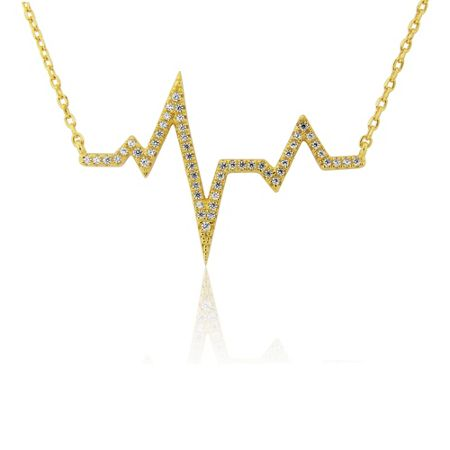 LaBante Gold heartbeat necklace