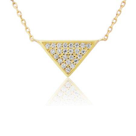 LaBante Gold triangle necklace