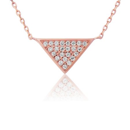 LaBante Rose gold triangle necklace