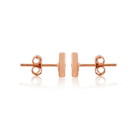 LaBante Rose gold triangle stud earrings