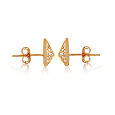 LaBante Rose gold pyramid stud earrings