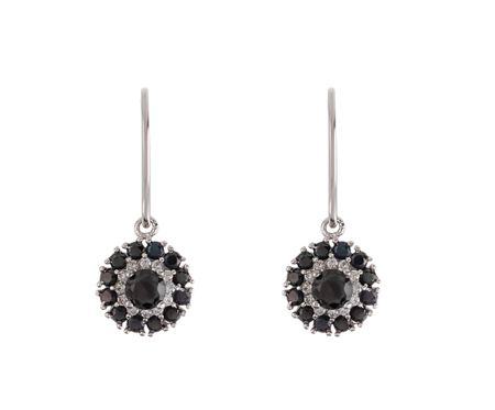 LaBante Sterling silver black drop earrings