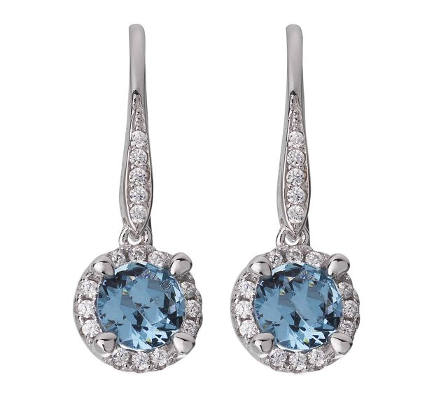 LaBante LaBante Sterling silver blue drop earrings, Blue