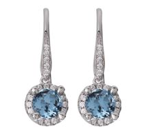LaBante Sterling silver blue drop earrings