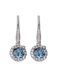 Sterling silver blue drop earrings