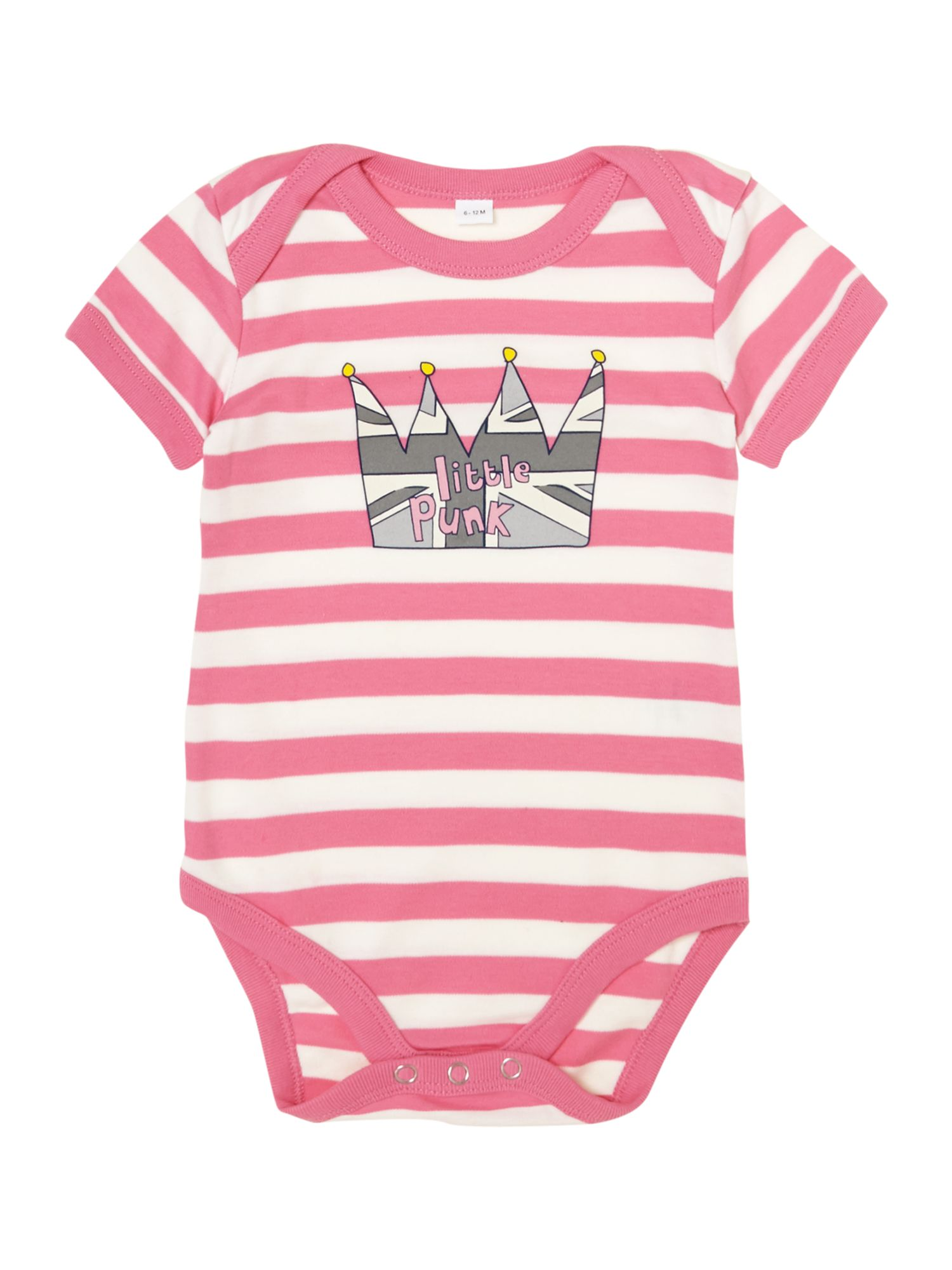Baby girl cotton striped bodysuit short sleeved