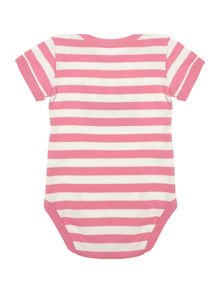 Little Punk Baby girl cotton striped bodysuit short sleeved