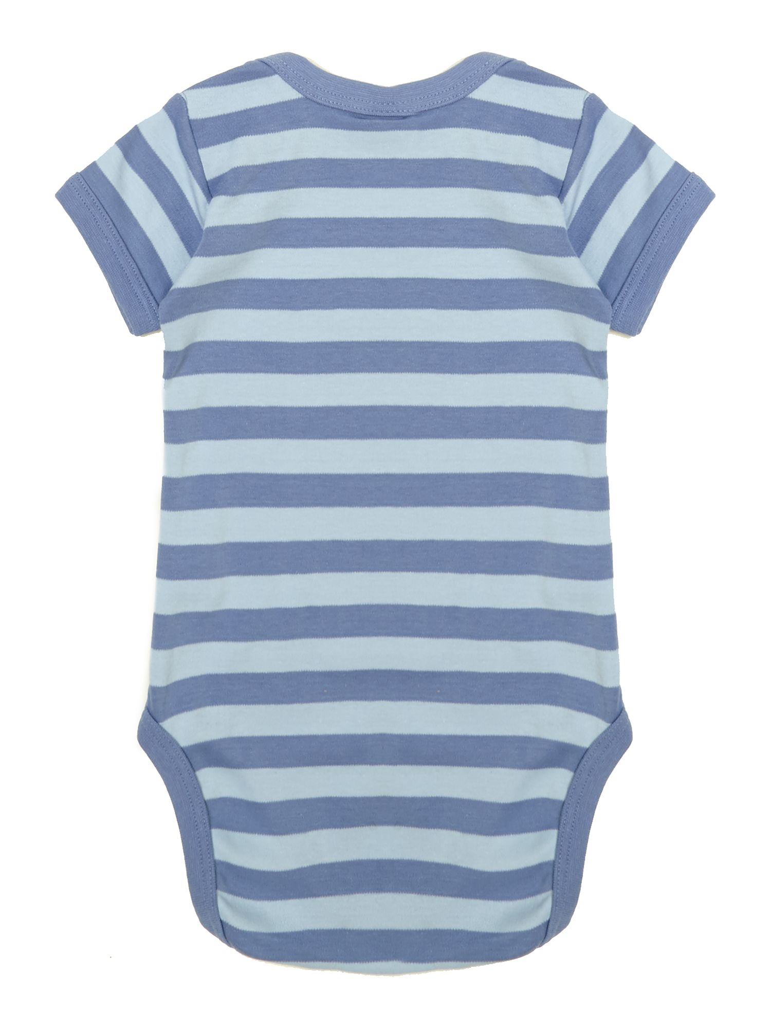 Baby cotton striped bodysuit short sleeved