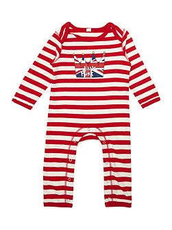 Baby cotton striped rompersuit long sleeved