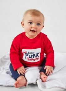 Little Punk Baby cotton short sleeved t-shirt