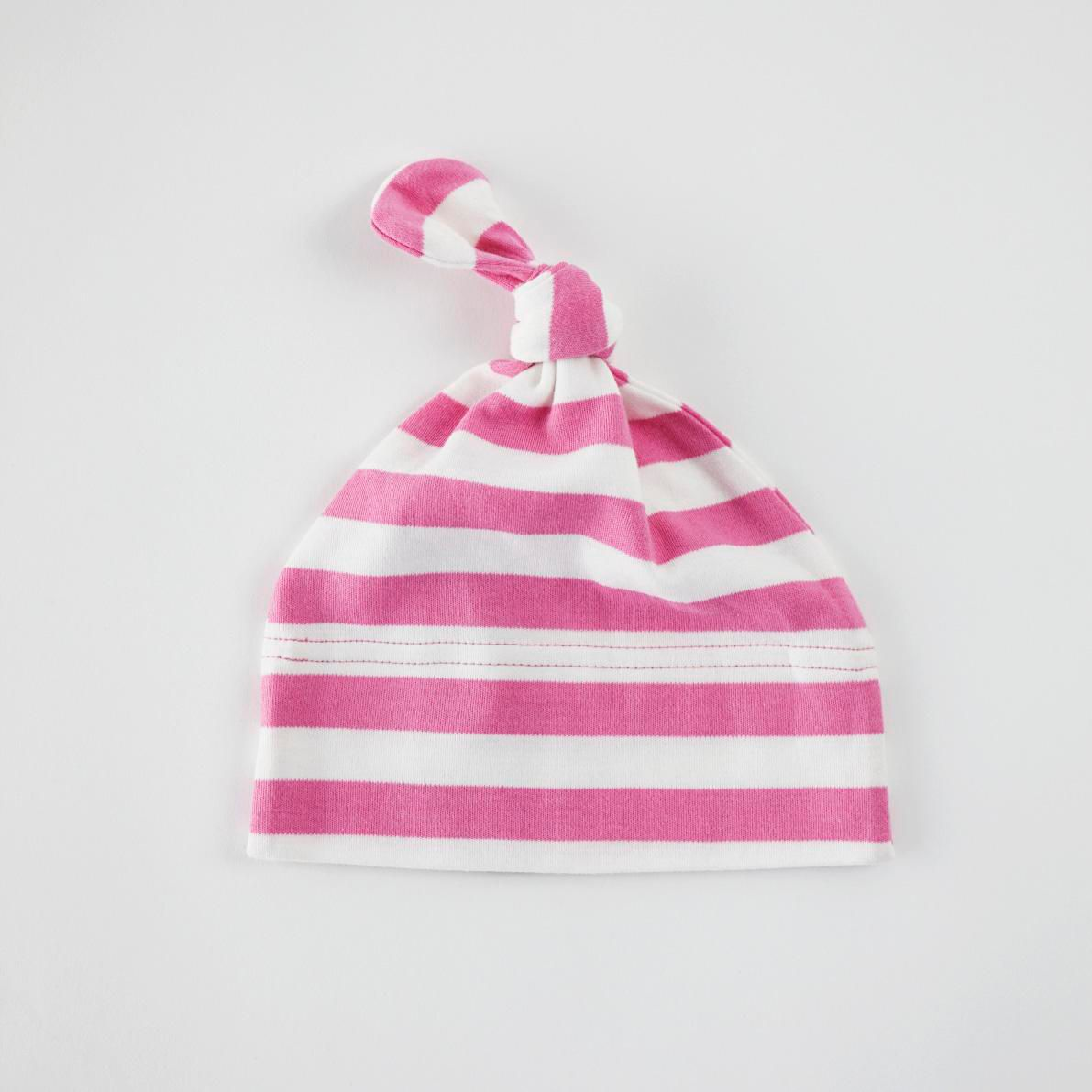 Cotton striped baby hat