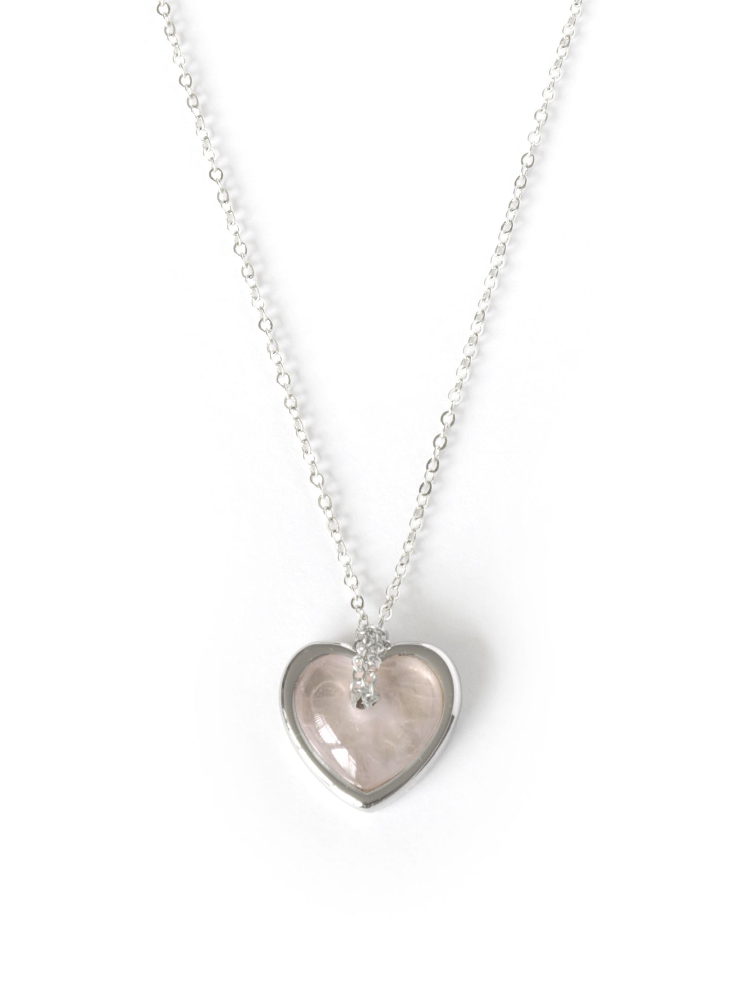 Mum rose quartz heart necklace