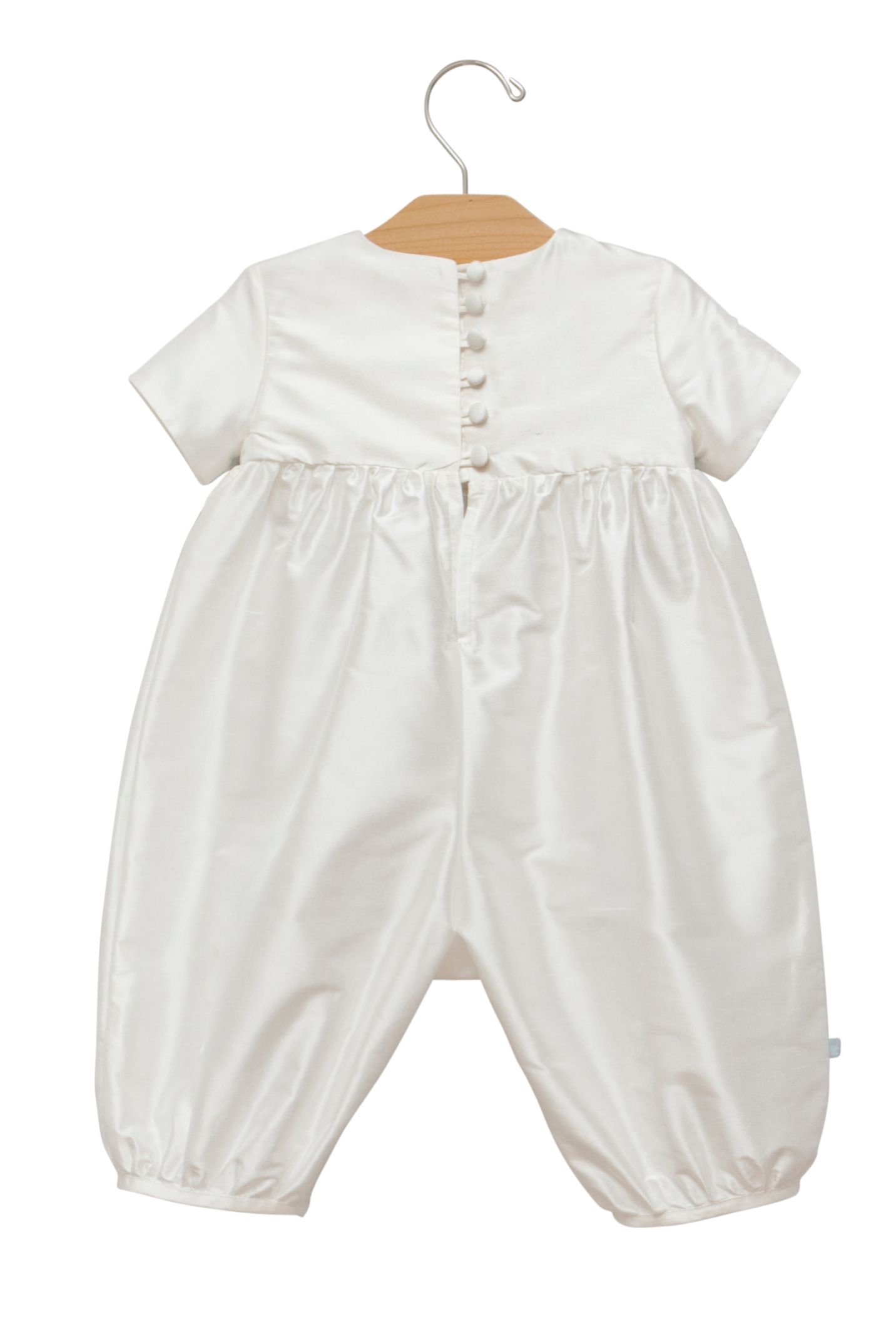 Boy`s christening romper