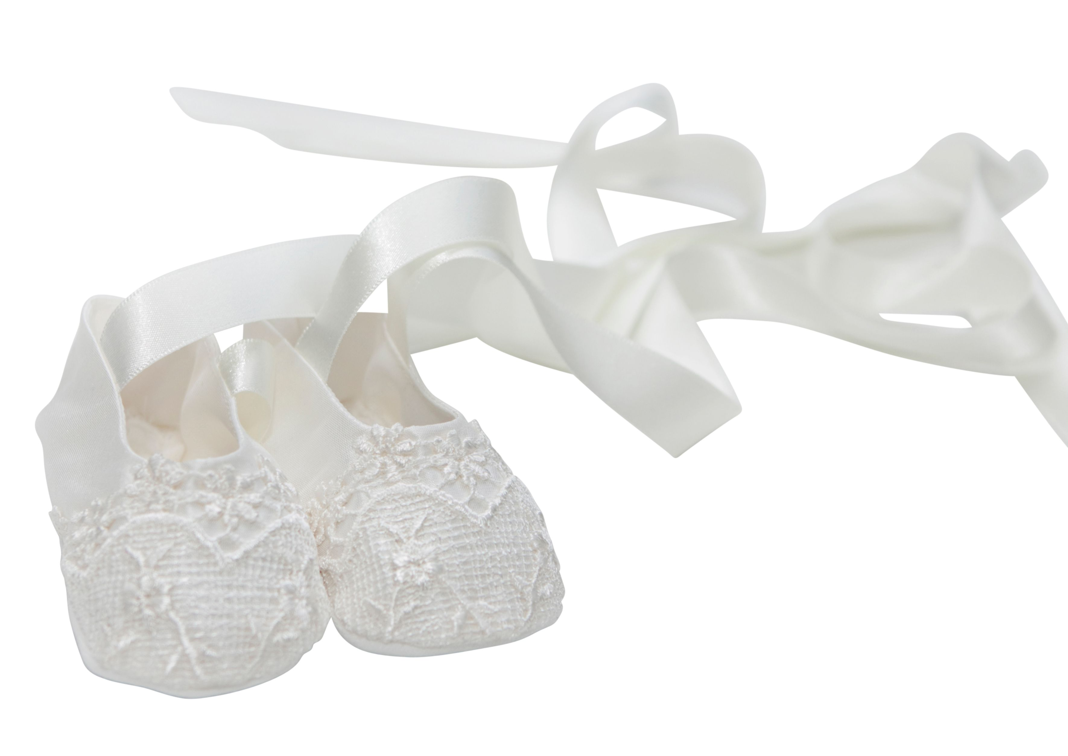 Girl`s christening booties