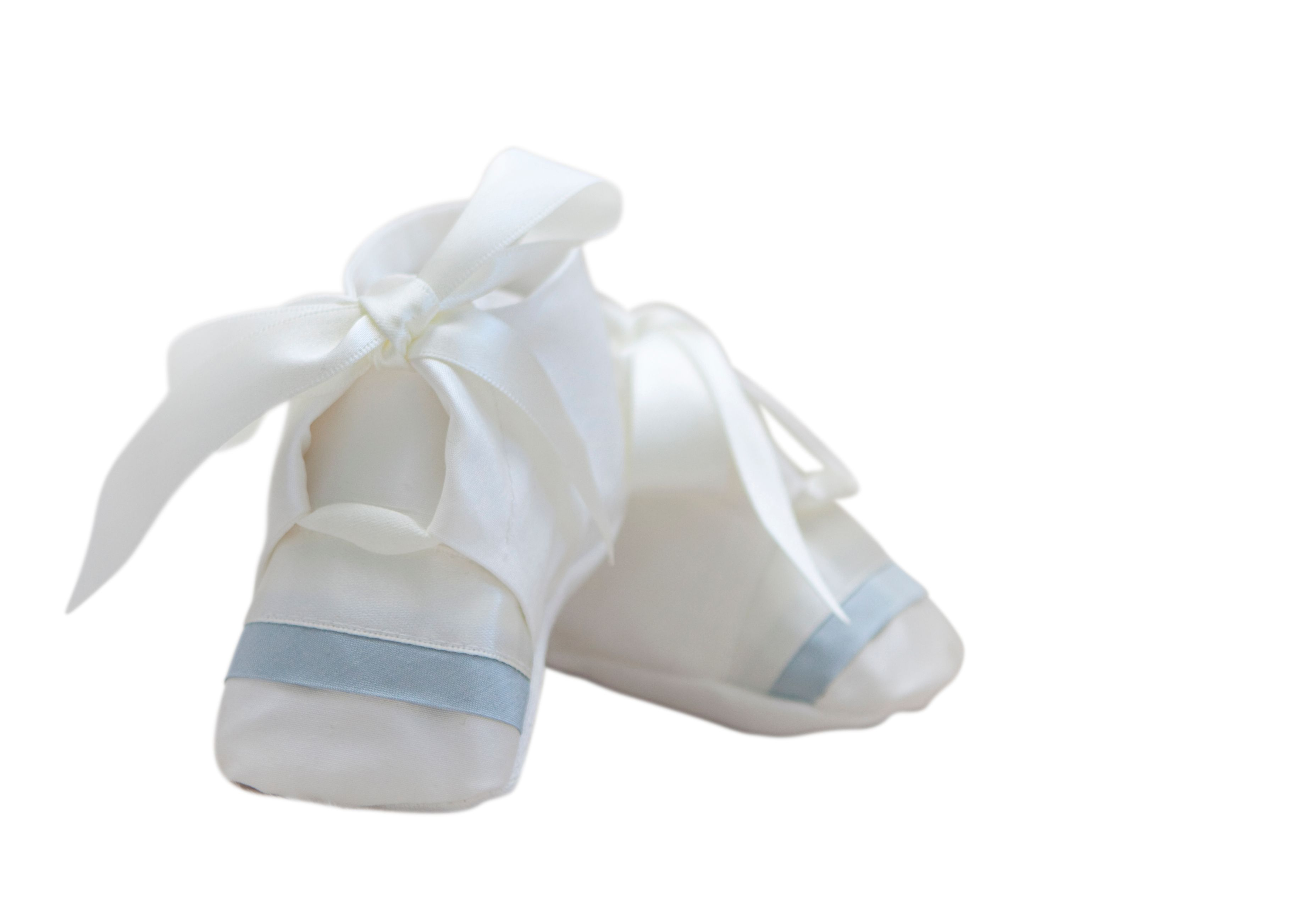 Boy`s christening booties
