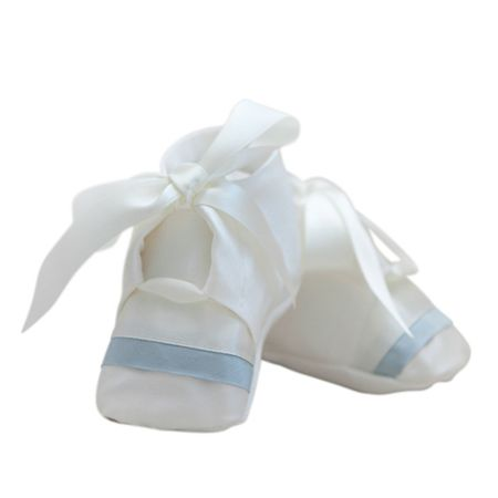 Adore Baby Baby boys ivory echo christening booties
