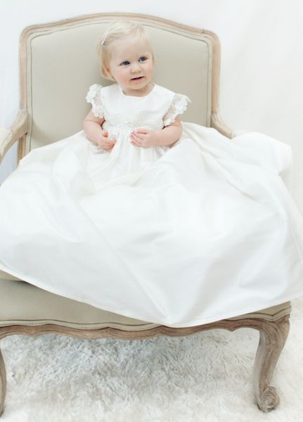 Adore Baby Baby girls ivory darcy gown