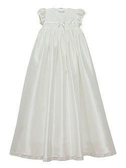 Baby girls ivory violet gown