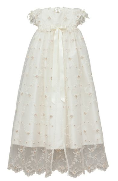 Adore Baby Baby girls ivory jessica gown