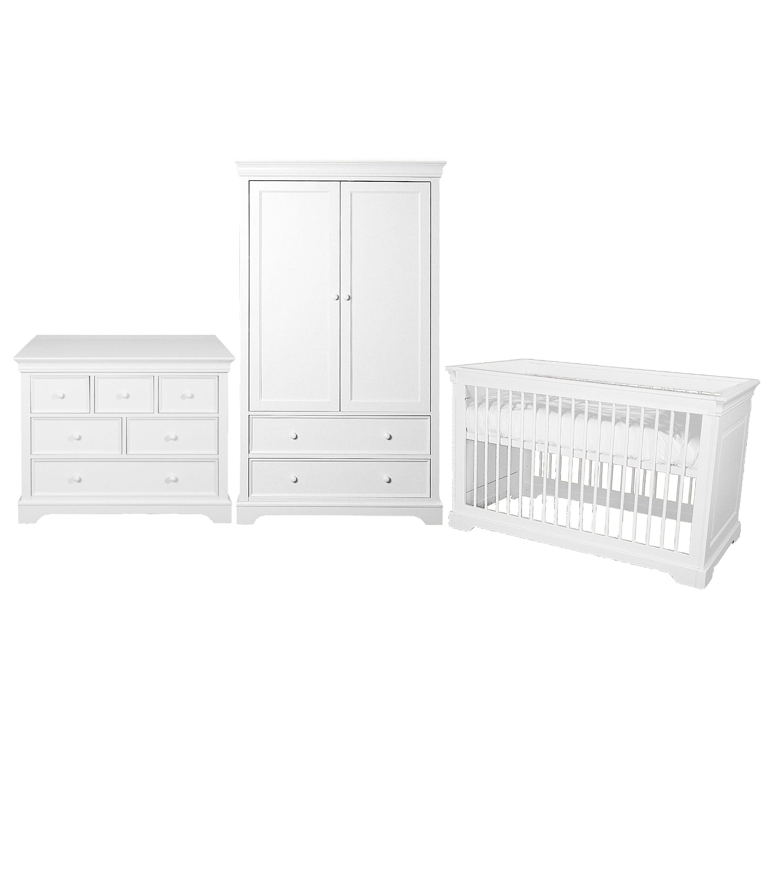 kidsmill marseille 3 piece nursery furniture set 162300 baby nursery furniture kidsmill malmo white