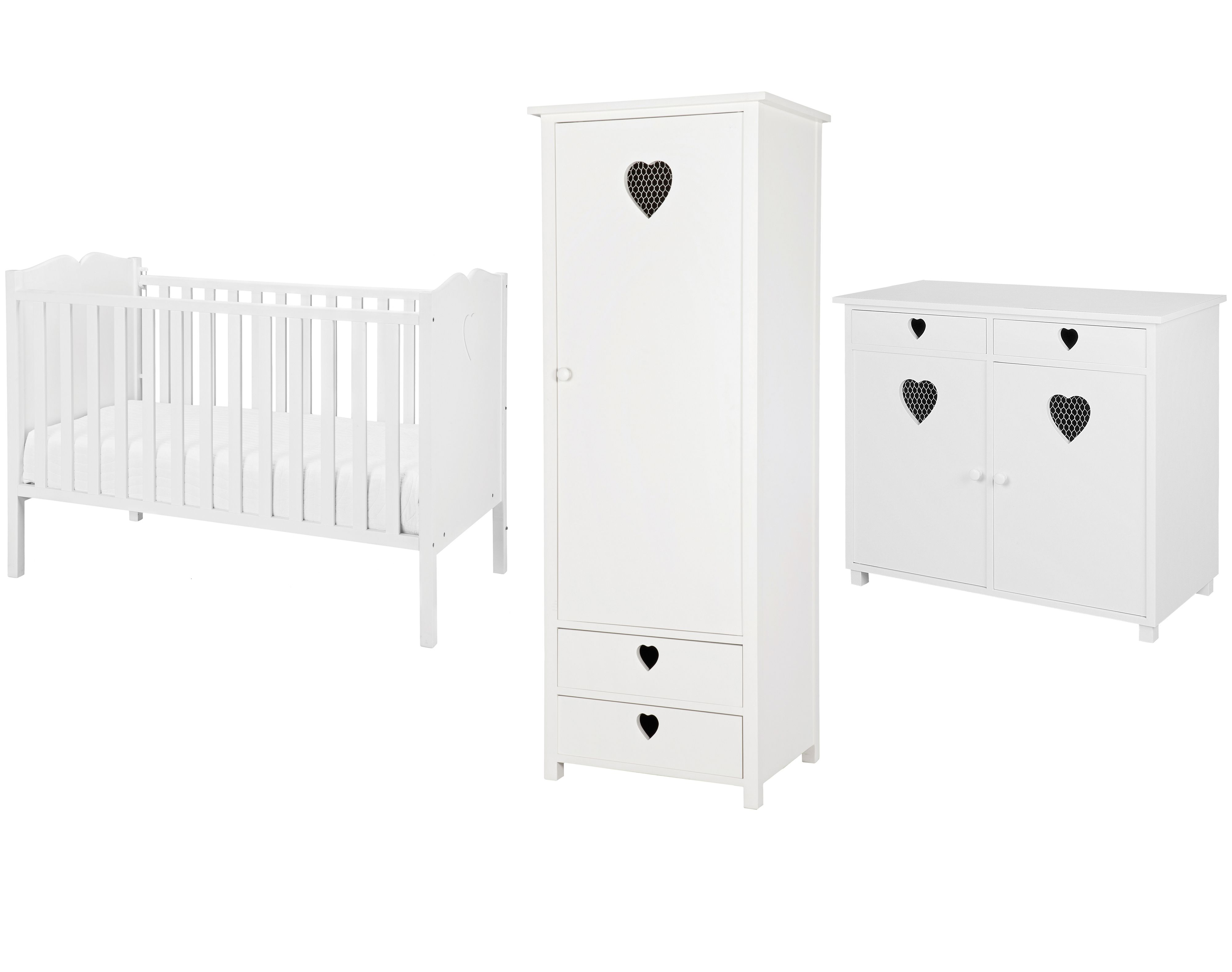 Heart Nursery Furniture Set