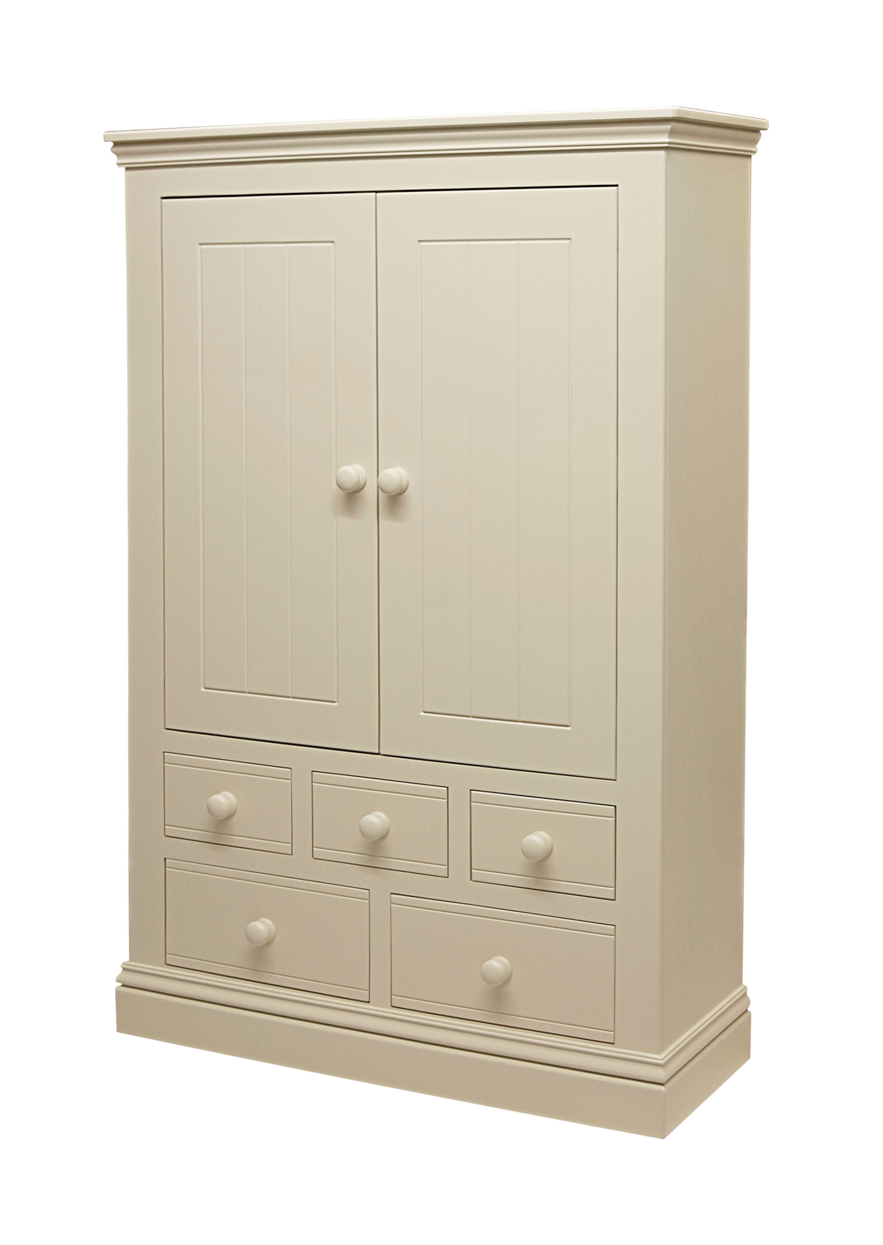 New Hampton 2 Door Wardrobe with 5 Drawers