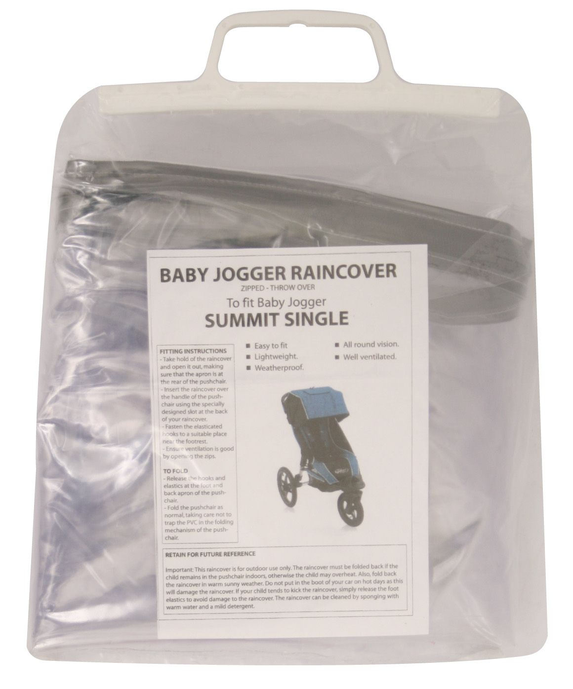 Baby Jogger Raincover for Baby Jogger City Elite/ Summit X3