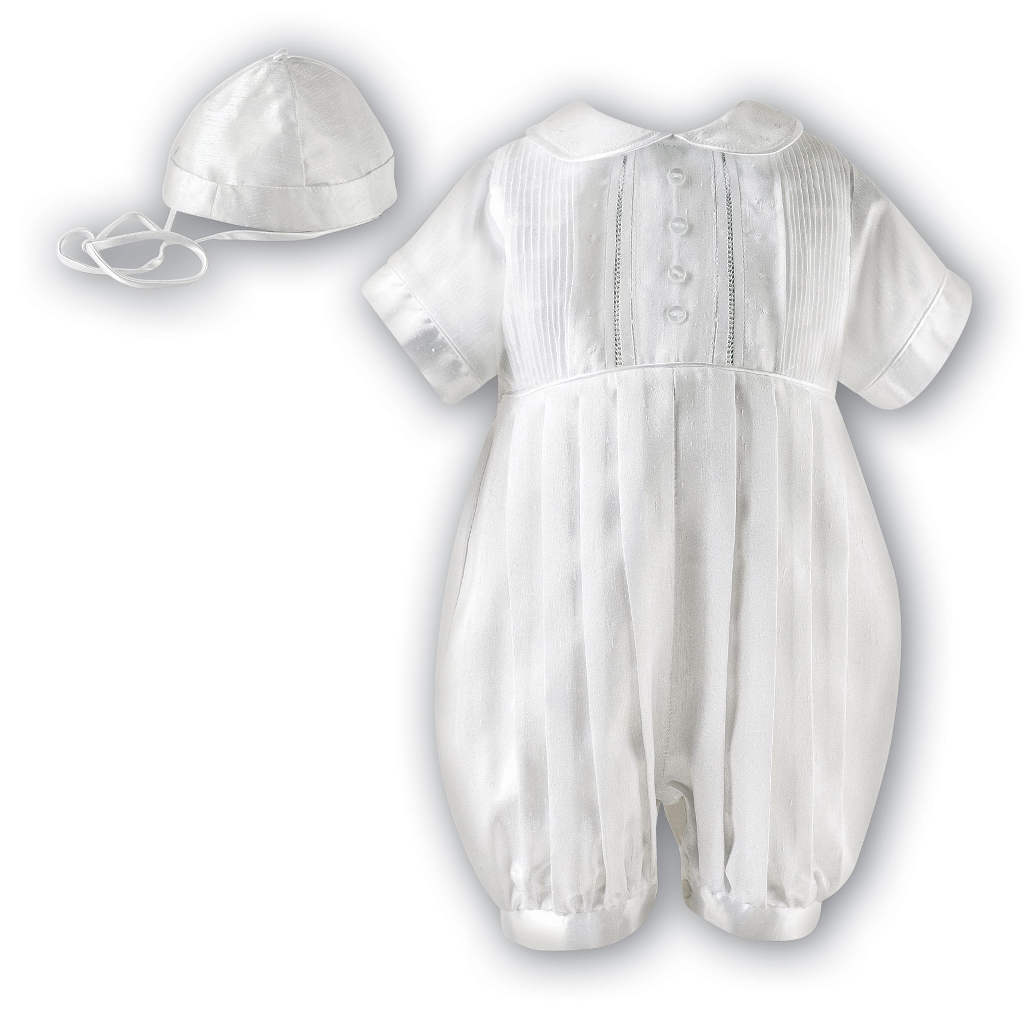 Babys ivory romper with hat