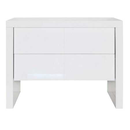 Kidsmill Diamond White Glossy Chest 2 Drawer