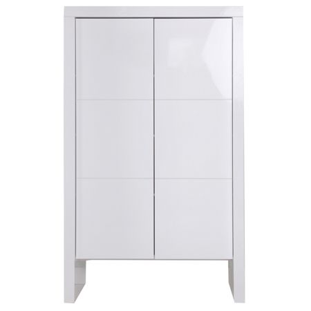 Kidsmill Diamond White Glossy Wardrobe 2 Doors