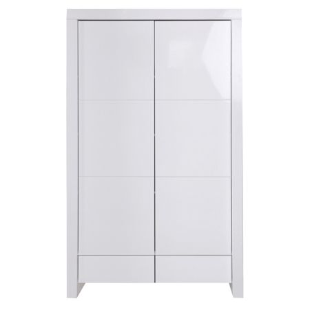 Kidsmill Diamond White Glossy Wardrobe