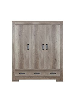 Lodge Wardrobe 3 Doors by Kidsmill