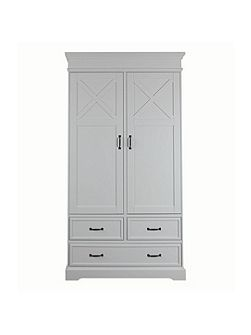 Savona white Wardrobe 2 Doors with cross
