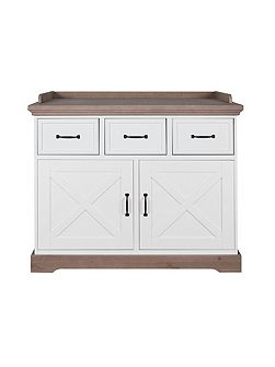 Savona White/Grey Chest (with cross)